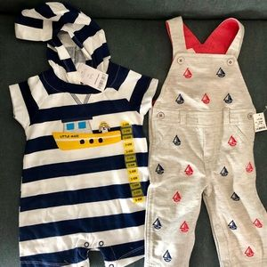 3-6 Month Nautical themed baby outfits